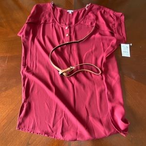 NWT belted shirt Charlotte Russe